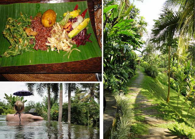 Soulshine in Bali; traditional meal, lush grounds, pool