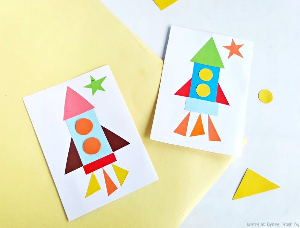 Shape Rocket Craft - Rocket Printable