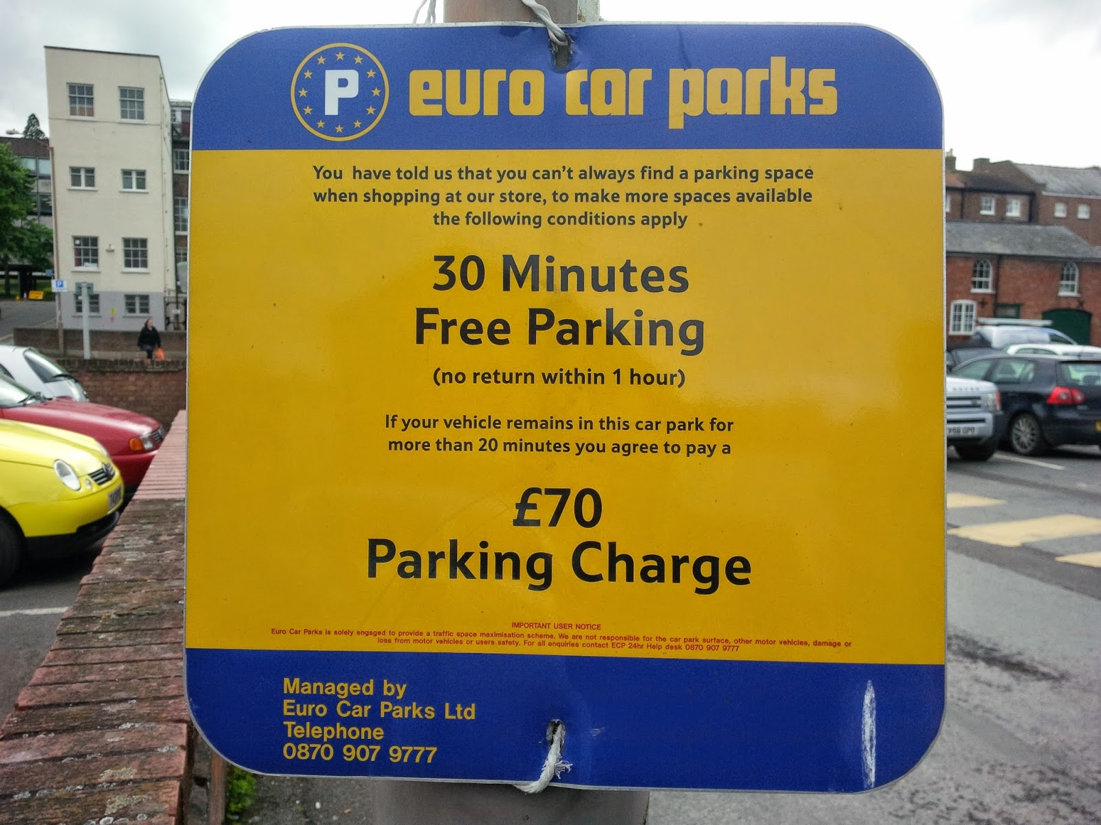 Parking Prankster Sign Of The Week Tesco Epic Fail
