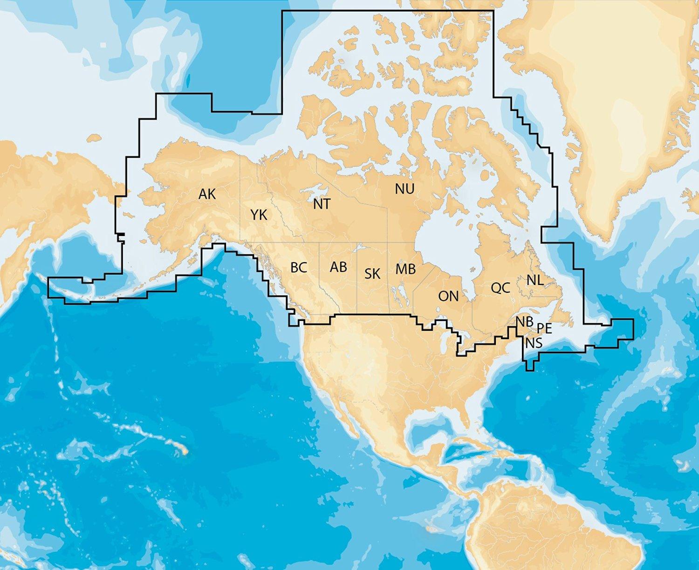 navionics plus regions canada marine and lake charts on sd msd