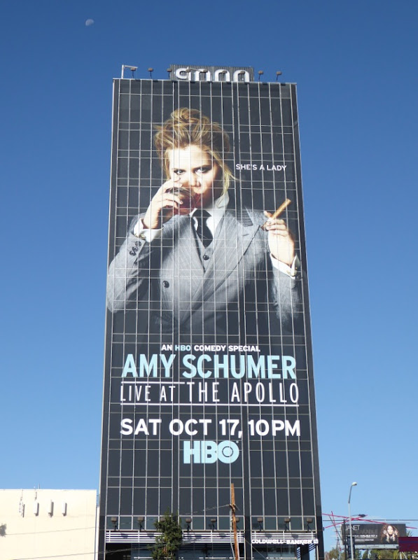 Giant Amy Schumer Live at the Apollo HBO comedy special billboard