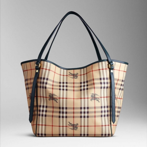 Burberry Medium Haymarket Colour Tote Borse Racing Green 32 X 31 20cm