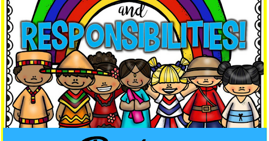 Rights and Responsibilities of a Child Posters and Notebook Sheets