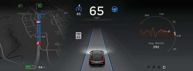 Tesla Model S Auto Navigation