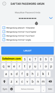 Membuat password akun Payfazz baru