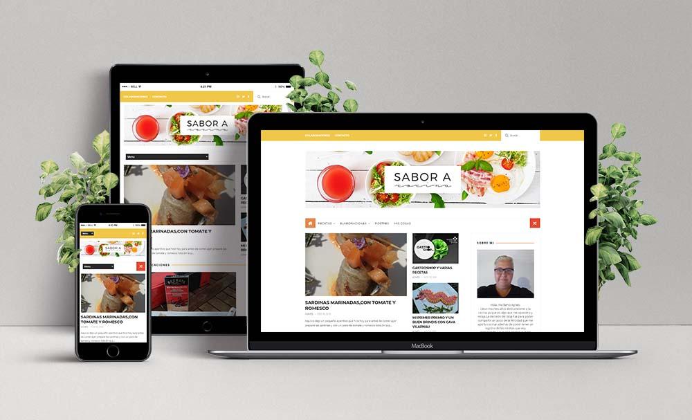 Diseño Web de Sabor a cocina