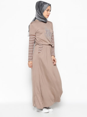Dress Muslimah Gaul Bahan Katun