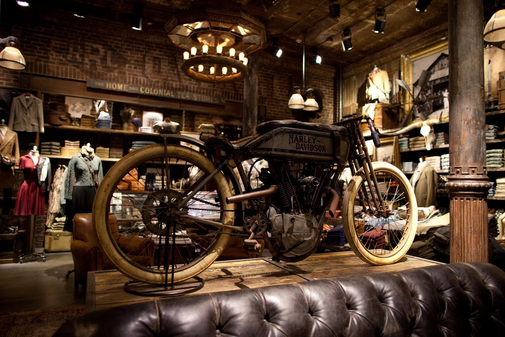 motorcycles rl double motorcycle garage soho garages bikes moto workshop ralph lauren motorbike stores rrl chad drygoods magasin showroom cafe