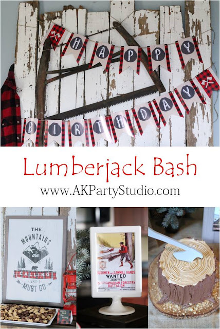 AK Party Studio Lumberjack Bash Birthday Party
