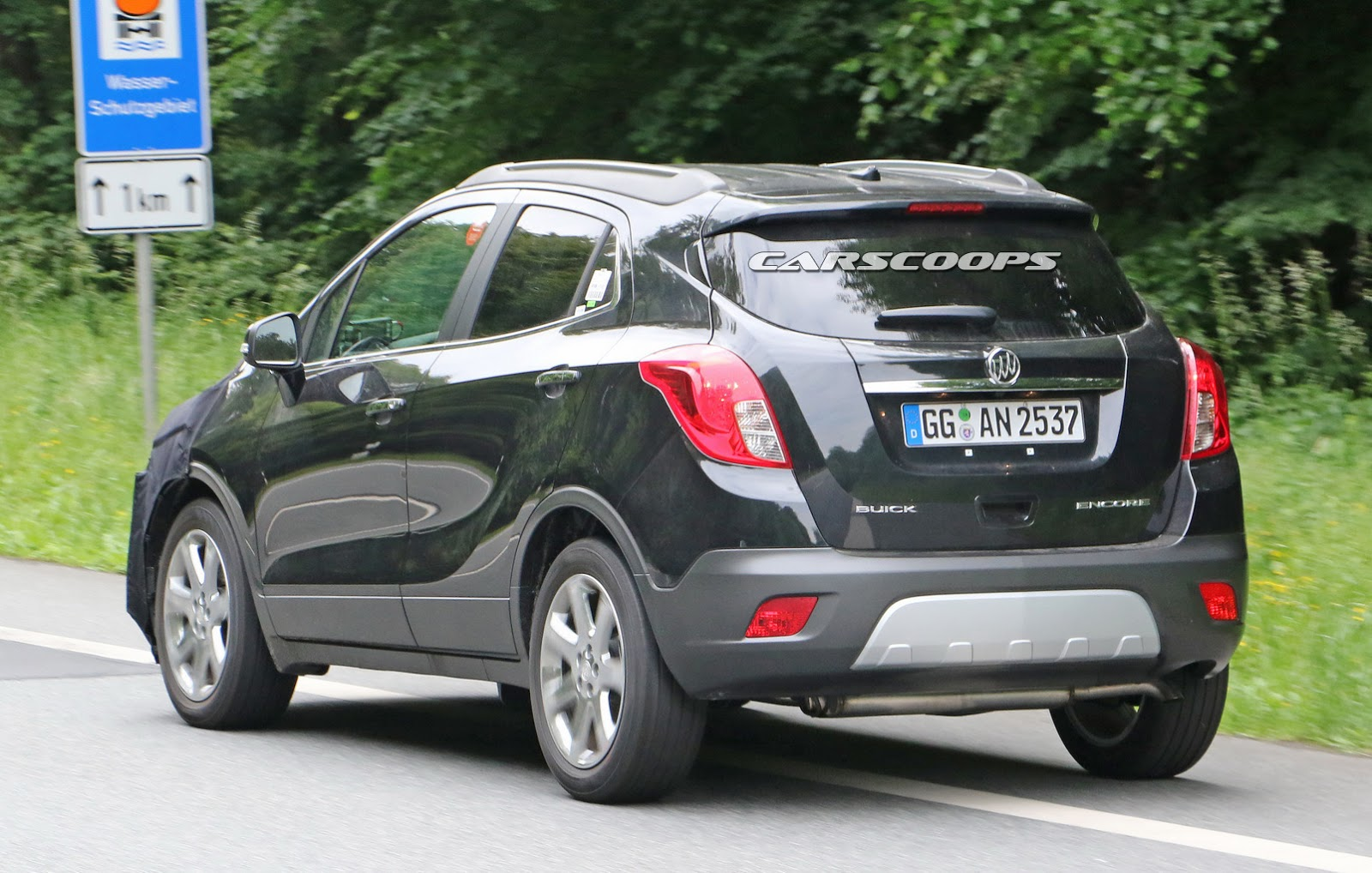 we spied gm testing facelifted buick encore and opel vauxhall mokka. Black Bedroom Furniture Sets. Home Design Ideas