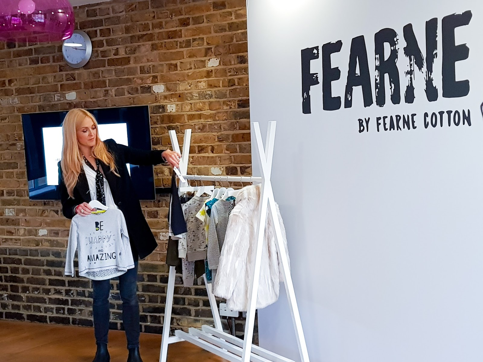 Fearne Cotton talking about some items from her new collaboration with Boots Mini-Club