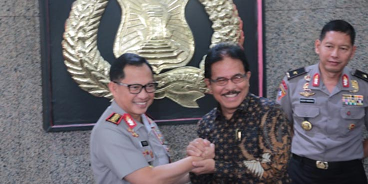 Menteri ATR/Kepala BPN, Sofyan A. Djalil dan Kapolri Tito M. Karnavian.