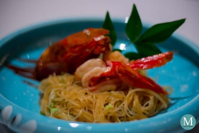 Prawn and Noodles at Shang Palace at Kowloon Shangri-La, Hong Kong