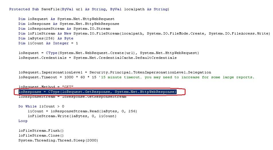 500 internal server error at system net httpwebrequest getresponse