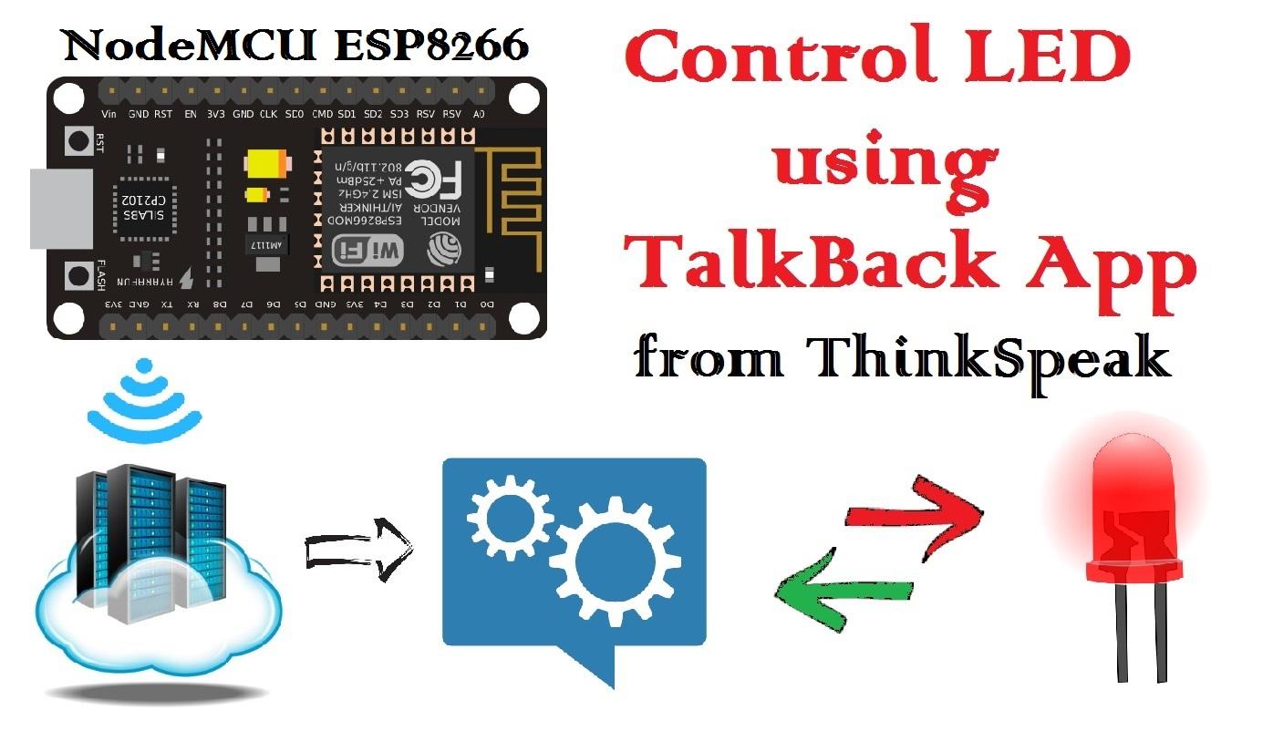 12 NodeMCU: TalkBack Application to Control LED - ThinkSpeak