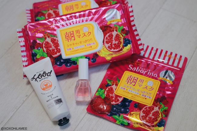 Japanese Fashion Blogger,MizuhoK,New in November,saborino=facial mask,ettusais=nail quic care coat, mommy FOOD=Hand balm