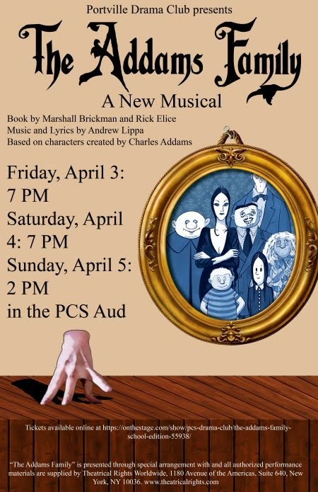 "4-3/4/5 Portville Drama Club ""The Adams Family Musical"""