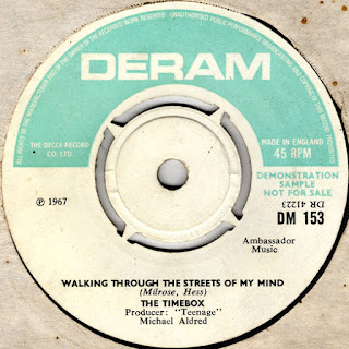 Mike Patto's personal copy of the UK promotional single. Deram DM 153.