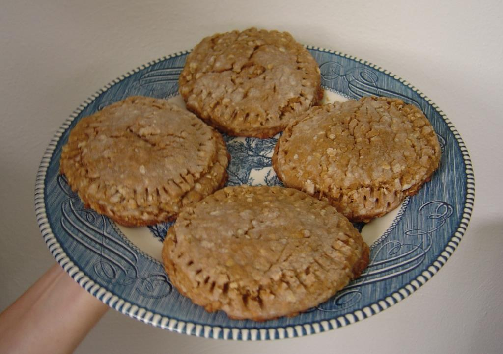 Pumpkin Pie Moist Filled Cookies on a Plate Image
