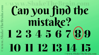 Answer of Mistake Finding Picture Puzzle