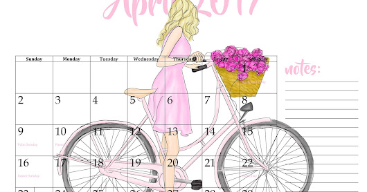 April Showers Bring May Flowers - AND FREE CALENDARS!