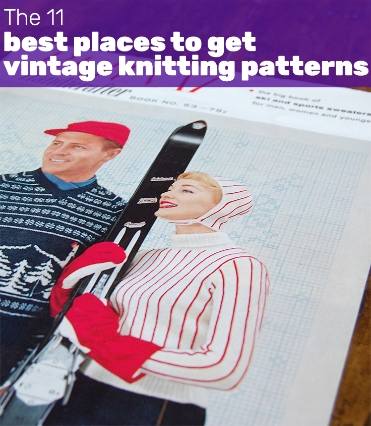 The 11 best places to get vintage knitting patterns ~ This Gal Knows
