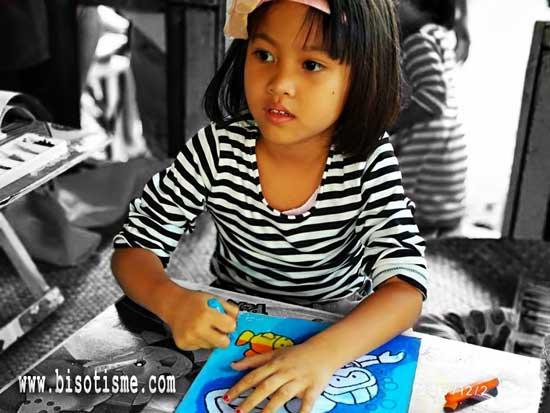 Belajar Mewarnai di Sanggar Lukis Cinong Bekasi