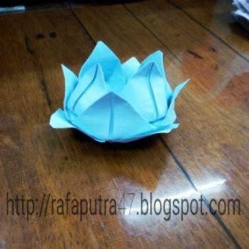 Cara Membuat Origami Bunga Teratai Mudah Origami Unik