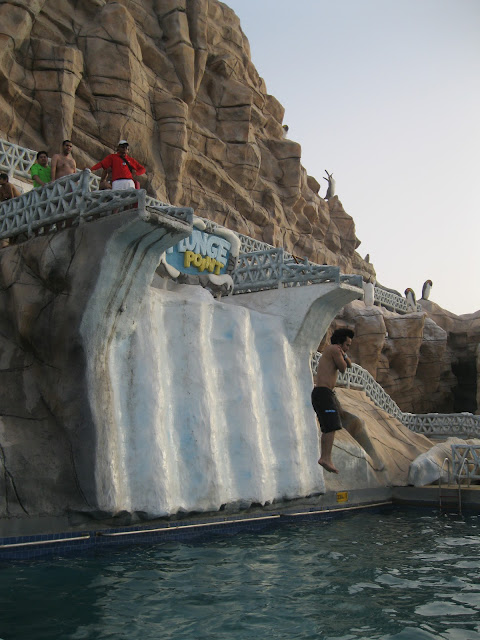 Plunge Point at Ice Land Water Park Ras Al Khaimah