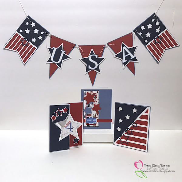 Patriotic Cards and Banner