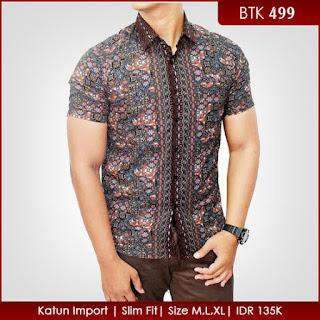 Contoh Model Baju Batik Pria Kombinasi