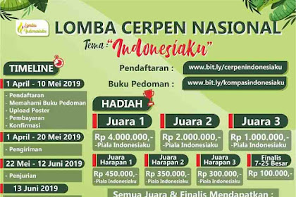 Lomba Cerpen Nasional Indonesiaku Untuk Umum 2019 Unnes Terbaru