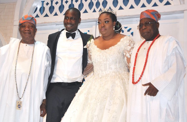 Image result for The White Wedding Of Obasanjo's Son And Daughter Of Baba Ijebu Owner