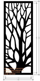 desain krawangan GRC floral ranting pohon