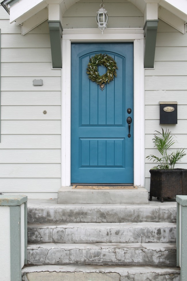 Painted Exterior Front Door - The Wicker House