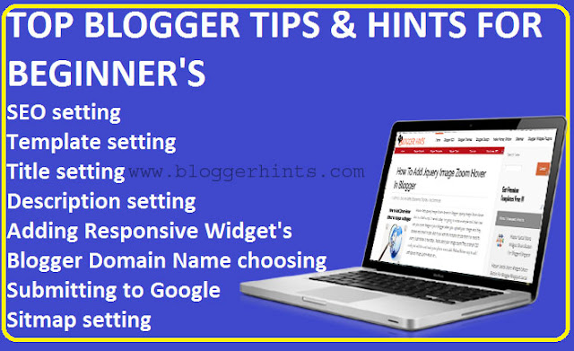 Hints and Tips For Starting A Blog /Blog For Beginners Guide