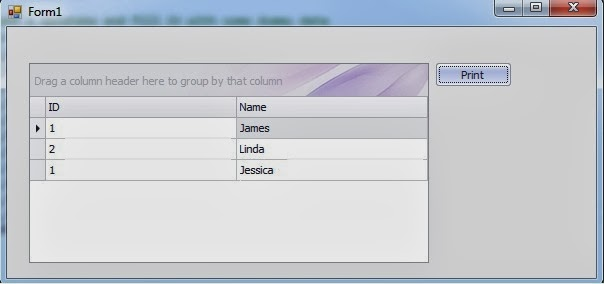 Print Grid Control Data Using DevExpress Reporting  (C# code