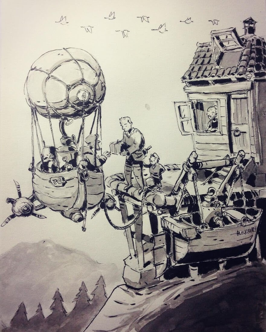 12-Air-Cargo-Ullikummi-Fantasy-Lands-in-Ink-Drawings-www-designstack-co