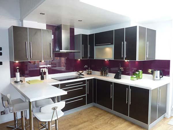 purple kitchen splashbacks   the kitchen design Small Kitchen Bar Design kitchen bar design quarter