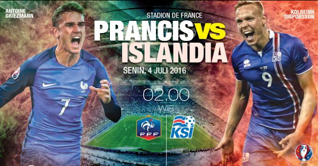 Live Skor Hasil Prancis vs Islandia Piala Euro 2016