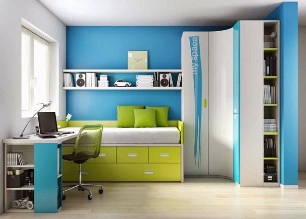 Dormitorios juveniles con armario de rinc n - Amueblar habitacion juvenil ...