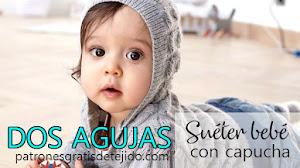 Suéter con Capucha para Niños Pequeños / Paso a Paso Dos Agujas