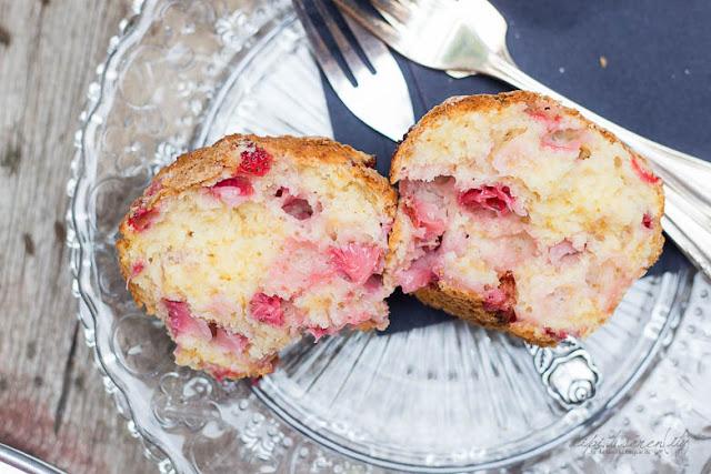Erdbeer Zitronen Muffins