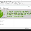 Cara Mengatasi CorelDraw Tidak Bisa Save, Export dan Print di Semua Versi, Mudah Kok!