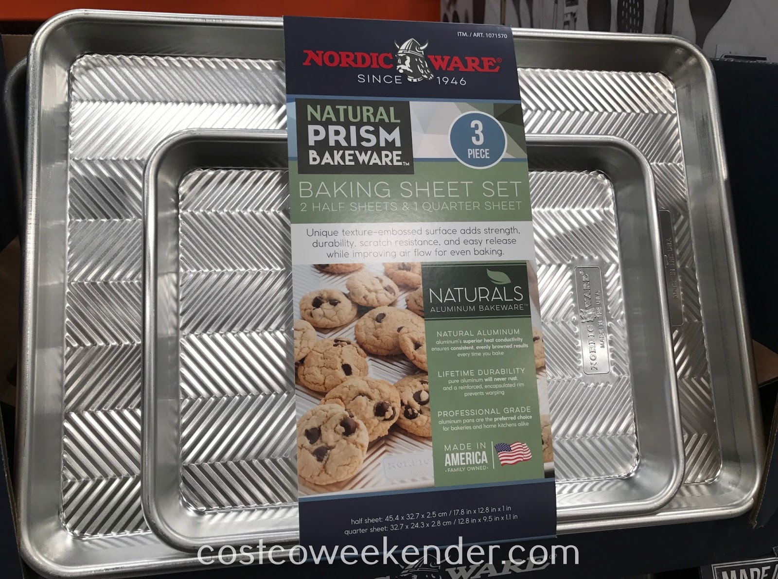 0819021bea2 Bake perfect cookies with the Nordic Ware Natural Prism Baking Sheet Set (3  piece)