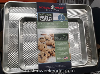 Bake perfect cookies with the Nordic Ware Natural Prism Baking Sheet Set (3 piece)