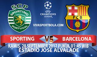 Prediksi Sporting Lisbon vs Barcelona 28 September 2017