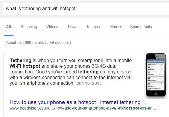 Definition of tethering