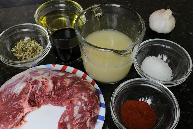 Ingredientes para solomillo con hierbas mediterráneas