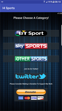 I4Sports Apk App to Watch Live Sports, PPV On Android, Amazon Fire